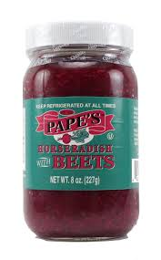 what is prepared horseradish pape s horseradish horseradish with beets pape foods