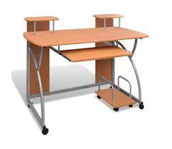 table de bureau pas cher acheter table de bureau brune pour ordinateur avec étagère pas