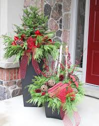 Christmas Decorations For Outdoor Containers by 393 Best Christmas Outdoors Images On Pinterest Christmas