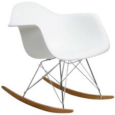 Molded Plastic Armchair Eames Rocking Chair Amazoncom Modway Molded Plastic Armchair