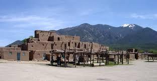 Pueblo Adobe Houses by Pueblo Architecture In Taos New Mexico