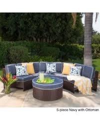 Patio Chair And Ottoman Set Amazing Deal On Madras Tortuga Outdoor Wicker Sectional Set With