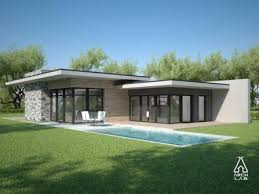 modern single story house 5 flat roof modern house plans one