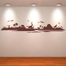 bedroom decor dinosaur landscape silhouette art stickers decal art bedroom decor dinosaur landscape silhouette art stickers decal art home decoration wall sticker removable room decor wall stickers cheap wall decor stickers