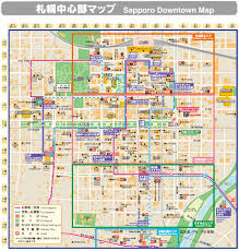 Downtown Las Vegas Map by Map Of Downtown Sapporo Travel Tips Pinterest Sapporo Japan