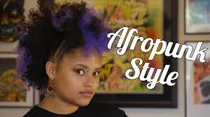 mwahahwk hairstule done using kinky artistifro clips festival ready afropunk mohawk using kinky clip