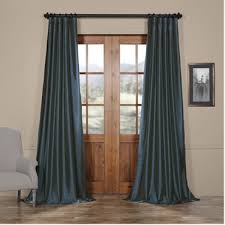 Dusty Blue Curtains Get Faux Silk Taffeta Curtains Panels Silk Drapes