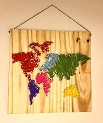 diy world map wall nail string art timelapse youtube