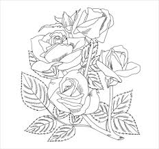 flower coloring pages u2013 22 free psd ai vector eps format
