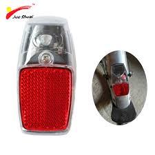 bicycle rear fender light js leds battery fender bike light mount on the mudguard red plastic