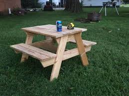 Build A Picnic Table Cost by Kids U0027 Picnic Table 8 Steps With Pictures