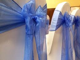 organza sashes chair cover hire weddings corporate functions
