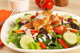 sweet chili chicken salad with blue cheese ranch dressing recipe