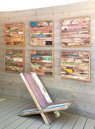 wood plank artwork wooden wall with modern flair