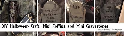 diy halloween craft mini coffins and mini gravestones