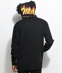 vans sweater vans x thrasher black hoodie zumiez
