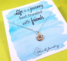 college graduation gifts for friends compass necklace best friend gift compass charm friendship