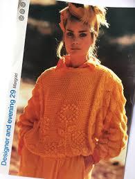 s sweater patterns vintage 1980s knitting pattern s sweater original 80s