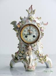 Antique Mantel Clocks Value Natty U0027s Attic Antique French Vinceti Et Cie Porcelain Mantel Clock