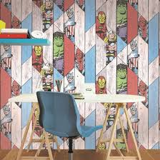 graham u0026 brown marvel super heroes wood panel wallpaper 102435