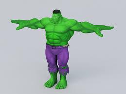 marvel comics hulk 3d model 3ds max object files free download