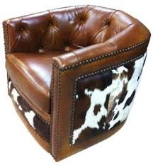 cowhide western furniture belair swivel chair custom belair