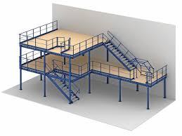 portable mezzanine 1 2 levels heavy duty raised storage mezzanine