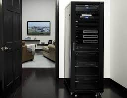 cabinet for home theater equipment sanus cfr2136 component series av racks racks products sanus