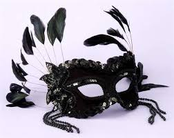 mardi gras mask with feathers black feather masquerade mask