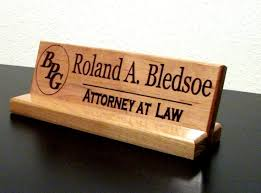 Desk Signs For Office Name Plate Personalized Wood Office Desk Sign With Logo Corporate