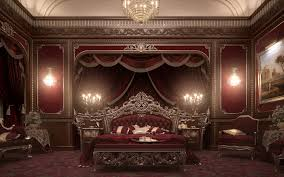red and gold bedroom decor
