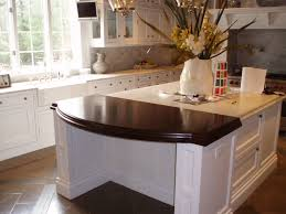 rounded kitchen island classic white kitchen brooks custom
