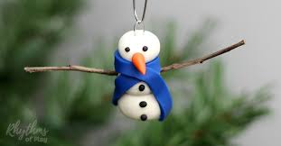 diy polymer clay snowman ornament rhythms of play