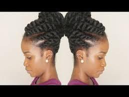 twist using marley hair flat twist updo using marley braiding hair winter protective