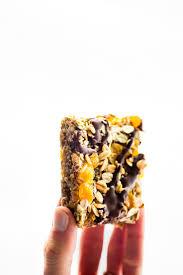 no bake apricot oat protein bars nut free vegan