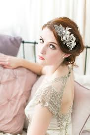 bridal headpiece celebration gunmetal and pearl headpiece no 18 millesime