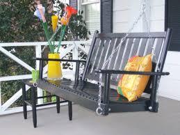 5 foot black porch swing mtc home design great and fun idea