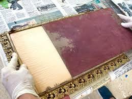 how to antique a mirror hgtv