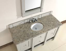 abstron 60 inch grey single sink bathroom vanity optional countertops