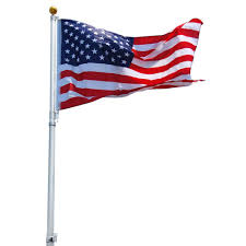 Interment Flag 25 U0027 Deluxe Titan Telescoping Flag Pole Satin Eagle Mountain