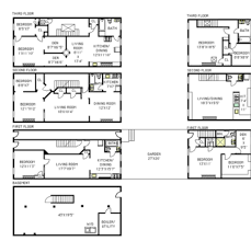 Town Houses Floor Plans Boerum Hill Home With Attached Carriage House Seeks 3 9m Curbed Ny