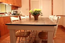 kitchen table ideas distressed round country kitchen table
