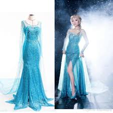 2015 frozen elsa queen princess cosplay dresses halloween