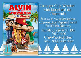 Alvin And The Chipmunks Christmas Ornament - birthday invitation card alvin and the chipmunks birthday