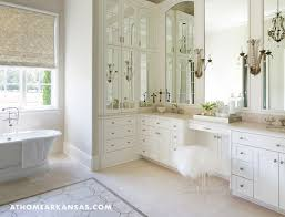 Bathroom Makeup Vanities Master Bath Makeup Vanity With Sheepskin And Lucite Stool