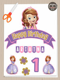 sofia the cake topper sofia the cake topper banderin para torta princess sofia