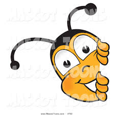 mascot vector cartoon of a honey bee mascot cartoon character
