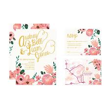wedding invitations floral floral wedding invitations brides