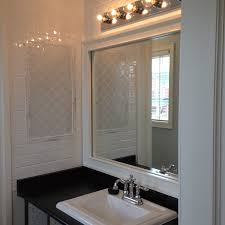 white wood weekend bathroom update how to frame a bathroom mirror