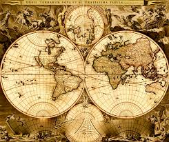 Old World Map by Vintage World Map Vintage World Map 001 My Style Pinterest